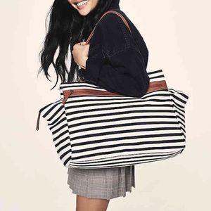 Striped Overnight Bag
